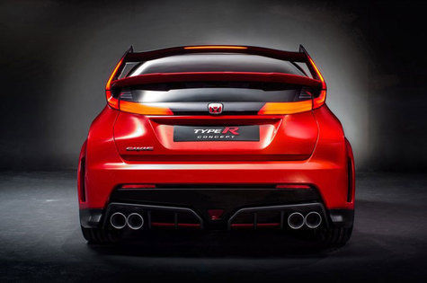 Honda Civic Type R belakang