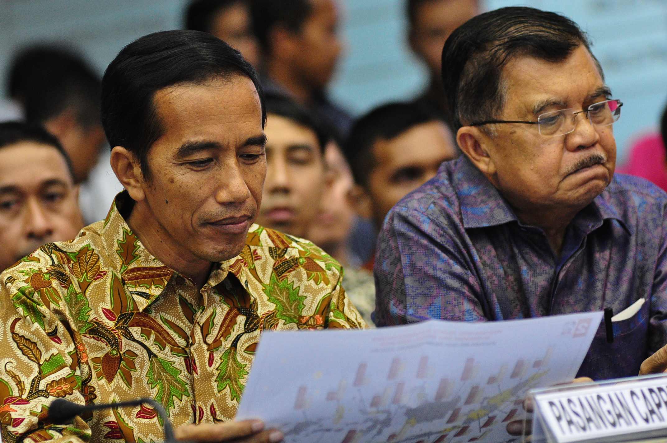 Kabinet Jokowi-JK Akhirnya Diumumkan Meskipun Mundur Satu Jam