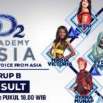 Hasil DA Asia 2 Tadi Malam: Peserta Yang Tersenggol Grup B Top 36 D' Academy Asia 2 Indosiar Kamis 27 Oktober 2016
