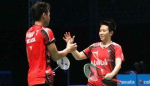 Hasil  China Open Babak Kedua Hari Ini Kamis 17/11/2016, Pasangan Tontowi Ahmad  /Liliyana Natsir  berhasil melaju ke babak selanjutnya