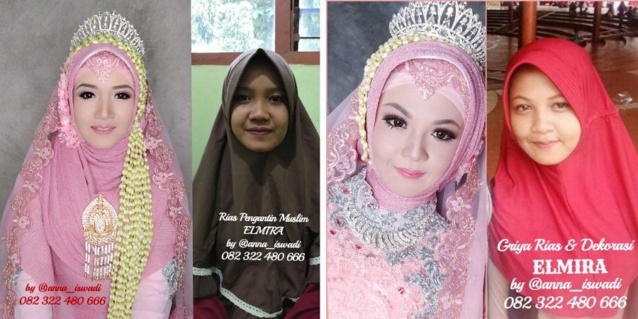 Rias Muslimah Sragen Elmira Manten, Dekorasi, dan Hijab Modern Elegan Syari Kepuasan Anda Kebahagiaan Kami