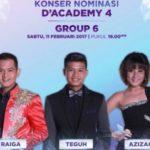 Konser Nominasi DA4 Grup 6 Top 21 Besar: Jadwal D'Academy 4 Indosiar Nanti Malam 11 Februari 2017