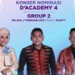 Jadwal Konser Nominasi D'Academy 4: Peserta DA4 Grup 2 Top 21 Malam Ini 07 Februari 2017
