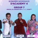 Hasil D'Academy 4 Tadi Malam: Siapa Yang Tersenggol di DA4 Grup 7 Top 28 Indosiar 5 Februari 2017?