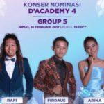 Hasil D'Academy 4 Tadi Malam: Arina Maumere Tersenggol di DA4 Grup 5 Top 21 Besar 10 Februari 2017