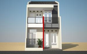 gambar desain rumah minimalis 2 lantai tipe 36 terpopuler 2017