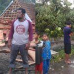 Angin Puting Beliung Sragen Sebabkan Ratusan Rumah Rusak dan Pohon Tumbang