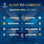 Hasil Drawing Perempat Final Liga Champions 2016/2017 : Buyern Munich vs Real Madrid dan Juventus Kontra Barcelona