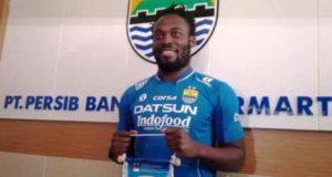 Marquee Player Persib Bandung M. Essien Latihan Perdana Hari Ini