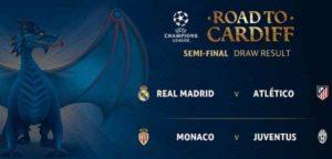 JADWAL SEMIFINAL LIGA CHAMPIONS 2017: Akan Ada Derby Madrid Dan Monaco Vs Juve