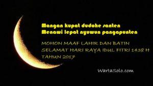 Kata-kata Ucapan Idul Fitri Bahasa Jawa Terbaru 2017