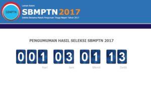 Website pengumuman.sbmptn.ac.id 2017 Pengumuman Hasil SBMPTN Online