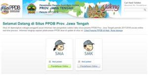 Website ppdb.jatengprov.go.id Pengumuman PPDB Jateng 2017, Pendaftaran Online Jadwal Alur SMA SMK