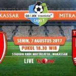 Live Streaming PSM Makassar Vs Mitra Kukar, Jadwal Siaran Langsung Liga 1 Gojek Traveloka Pekan 18 di TVOne