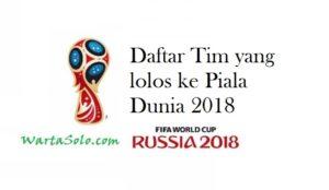 Daftar 29 Tim yang Telah Memastikan Diri Lolos ke Piala Dunia 2018