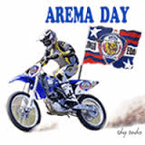 Logo Caption DP BBM Arema FC vs Semen Padang FC GIF Animasi Bergerak