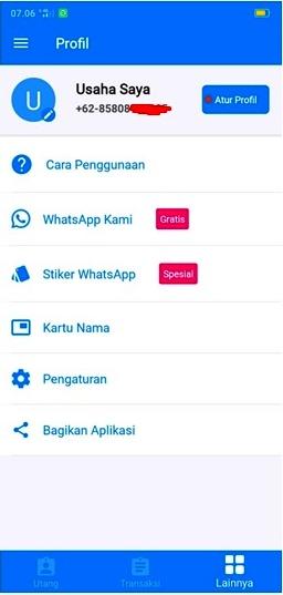 Tampilan Aplikasi BukuWarung